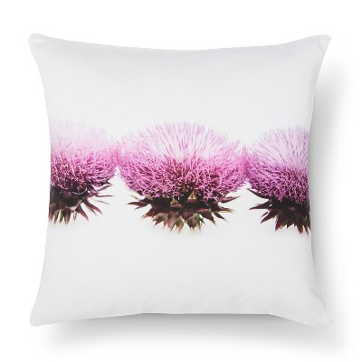 Thistle Print Pillow - 18x18 - Pink&White - STILL by Mary Jo™