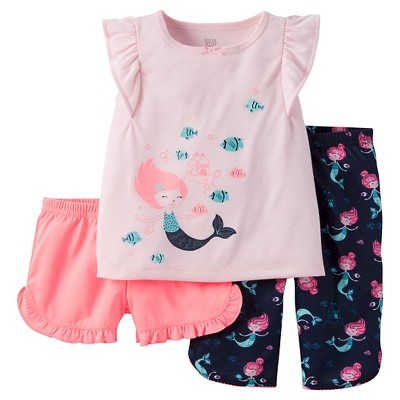 Baby/Toddler Girls' 3-Piece Pajama Set 2T - Just One You™ Made by Carter's®