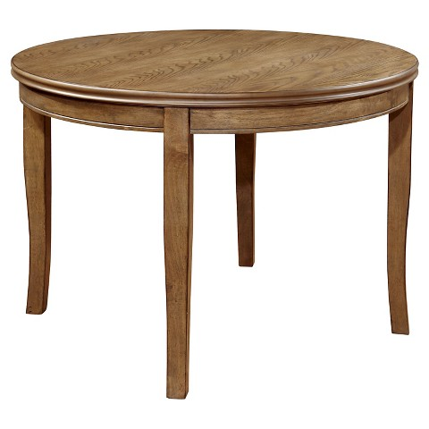 Simple round table wood natural tone furniture target for Natural wood round table