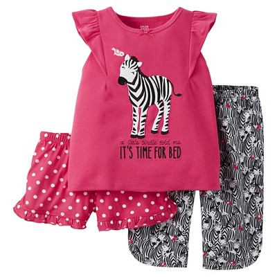 Baby/Toddler Girls' 3-Piece Pajama Set 12M - Just One You™ Made by Carter's®