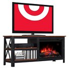 """Grainger TV Stand with Electric Fireplace Brown 55"""" - ClassicFlame"""