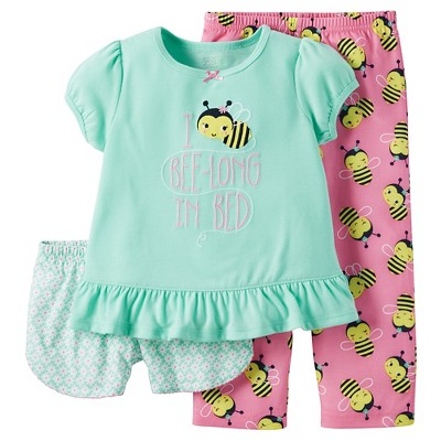 Baby/Toddler Girls' 3-Piece Pajama Set 18M - Just One You™ Made by Carter's®