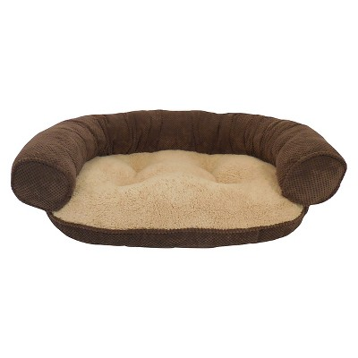 Paws & Claws Recliner Bolster Chocolate Pet Bed - L