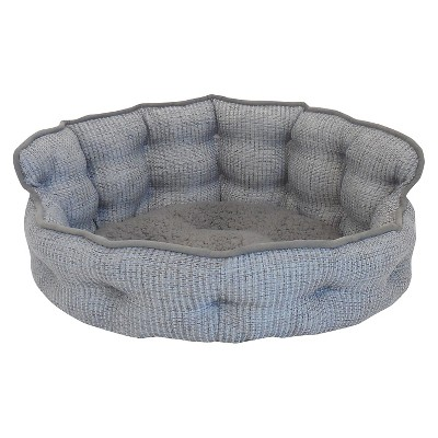 Paws & Claws Tufted Headboard Gray Pet Bed - M
