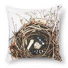 """Feather and Nest Print Pillow - 18x18"""" - Multicolor - STILL by Mary Jo™"""