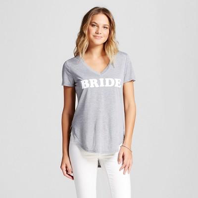 Women's Bride Side Slit Graphic Tee Grey XL - Modern Lux