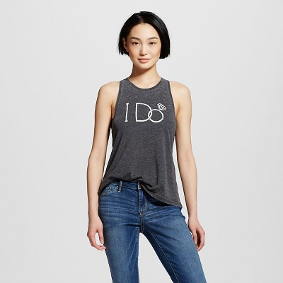 Women's I Do Graphic Tank Black S - Modern Lux