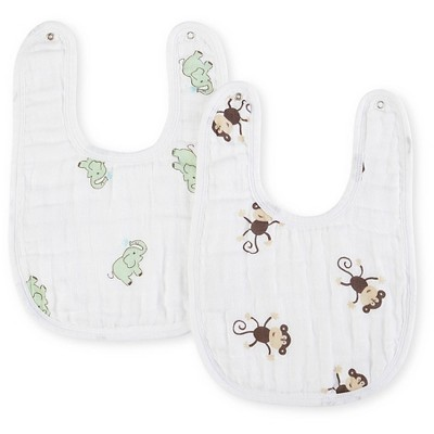 Aden® by Aden + Anais® Little Bib 2pk, Zooaroo