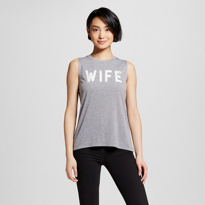Women's Wife Graphic Muscle Grey M - Modern Lux™