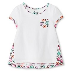 Toddler Girls' Floral T-Shirt White - Circo™