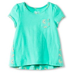 Toddler Girls' Rainbow T-Shirt Green - Circo™