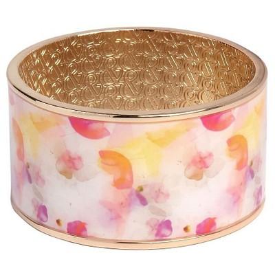 Women's Sam & Libby Large Bangle Bracelet - Gold/Pink