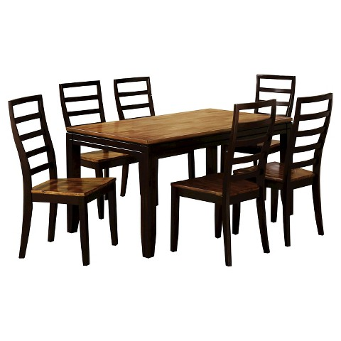 piece simple dining table set wood acacia and black furniture of