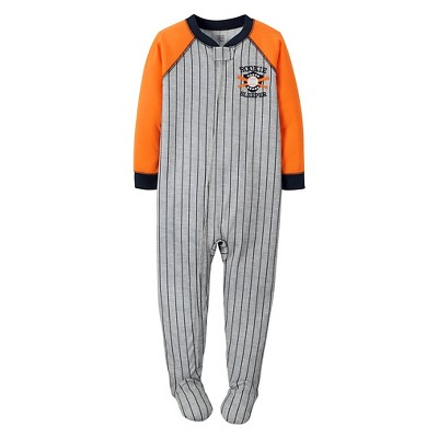 Just One You™ Made by Carter's® Toddler Boys' Stripe Footed Sleeper Gray 9M