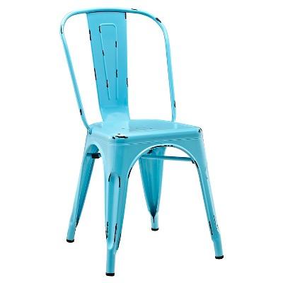 Walker Edison Metal Café Chair - Azure Blue