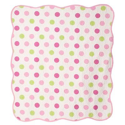 CoCaLo Audrey Crib Coverlet - Jumbo Dot/Dottie - Pink Multi