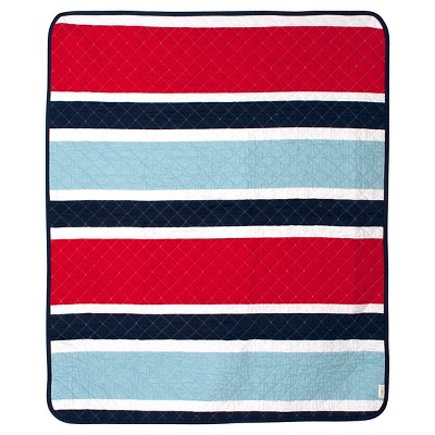 CoCaLo Connor Coverlet - Deck Stripe - Navy