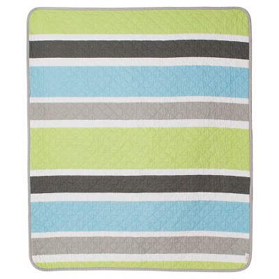 CoCaLo Julian Coverlet - Stripe - Gray