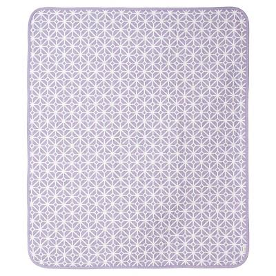 CoCaLo Violet Coverlet - Trellis & Candy Stripe - Lavender