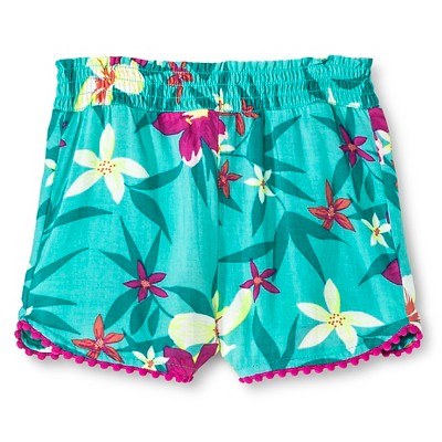 Toddler Girls' Floral Cover Up Shorts Iridescent Green - Circo™