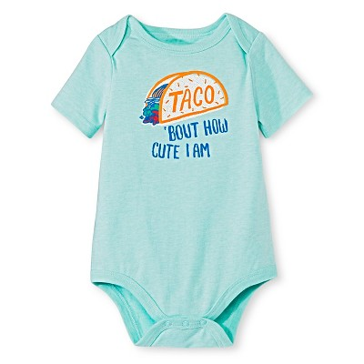 Circo™ Baby Boys' Lap Shoulder Taco Bodysuit - Hot Wire Aqua 0-3 M