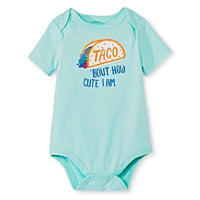 Circo™ Baby Boys' Lap Shoulder Taco Bodysuit - Hot Wire Aqua 18 M