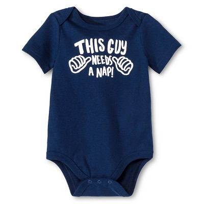 Circo™ Baby Boys' Lap Shoulder This Guy Bodysuit - Dark Night Navy 0-3 M