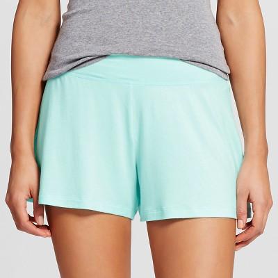 Women's Post Maternity Fluid Knit Sleep Short Aqua L - Gilligan & O'Malley™