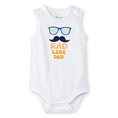 Circo™ Baby Boys' Tank Rad like Dad Bodysuit - Frozen White 0-3 M
