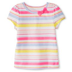 Toddler Girls' Striped Short Sleeve Tee Pink - Circo™