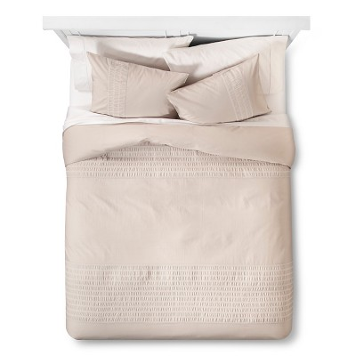 Embroidered Duvet and Sham Set Full/Queen - Khaki - Nate Berkus™