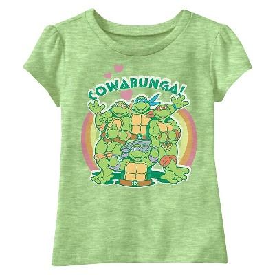 Teenage Mutant Ninja Turtles Baby Girls' Short Sleeve Tee - Green 18M