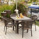 Christopher Knight Home River 5-piece Wicker Patio Dining Set