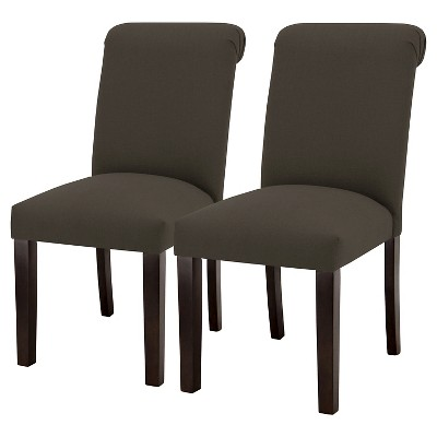 Sterling Rolled Back Dining Chair - Charcoal (Set of 2) - Threshold™
