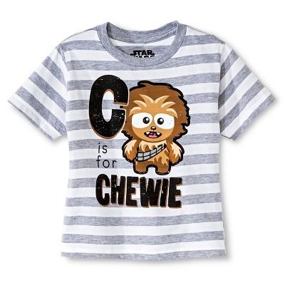 Star Wars™ Baby Boys' Chewie T-Shirt - White Heather Stripe 12 M