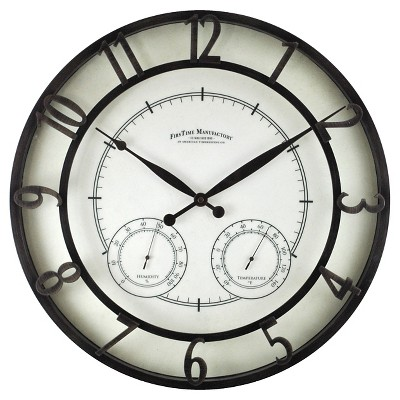 Firstime Park Outdoor Clock - Black Finish 18""