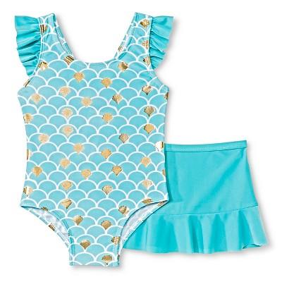 Toddler Girls' Sol Swim Owl One-Piece Swimsuit Blue 2T