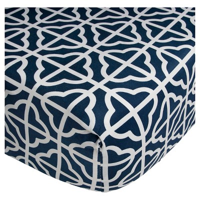 CoCaLo Connor Fitted Sheet - Trellis - Navy