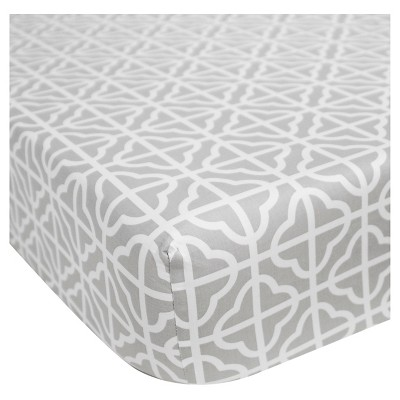 CoCaLo Julian Fitted Sheet - Trellis - Gray
