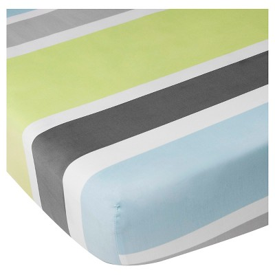 CoCaLo Julian Fitted Sheet - Stripe - Gray