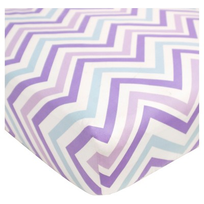 CoCaLo Violet Fitted Sheet - Chevron - Lavender