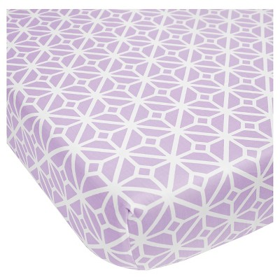CoCaLo Violet Fitted Sheet - Trellis - Lavender