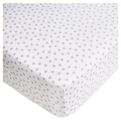 CoCaLo Violet Fitted Sheet - Dottie - Lavender
