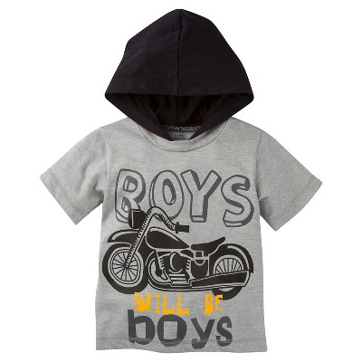 Gerber® Toddler Boys' T-Shirt - Gray 18 M