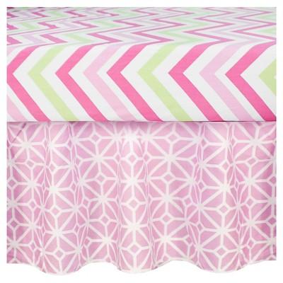 CoCaLo Audrey Dust Ruffle - Pink Trellis