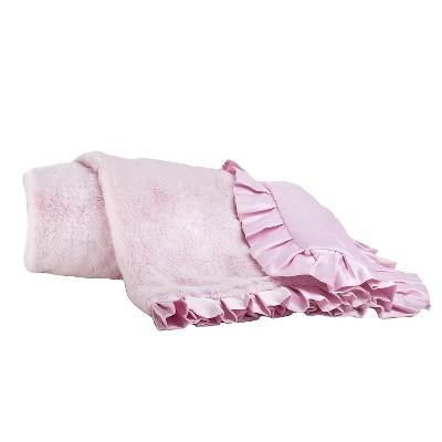 CoCaLo Audrey Blanket - Lux Fur - Solid Pink