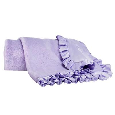 CoCaLo Violet Blanket - Lux Fur - Solid Lavender