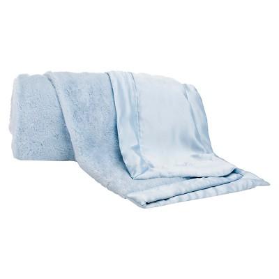 CoCaLo Connor Blanket - Lux Fur - Solid Blue