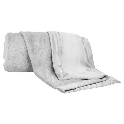 CoCaLo Julian Blanket - Lux Fur - Solid Gray