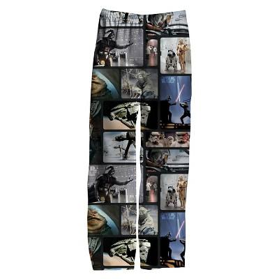 Men's Star Wars  Episode 7 Knit Sleep Pants Multi-Colored S